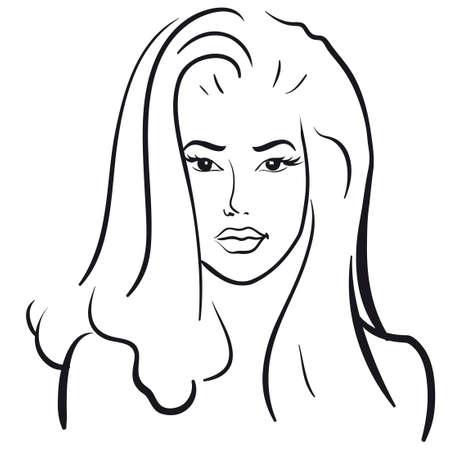 beauty girl face. (Vector Illustratio) Vector