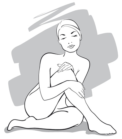 a person happy woman in the spa salon   Vector Illustratio  Vector