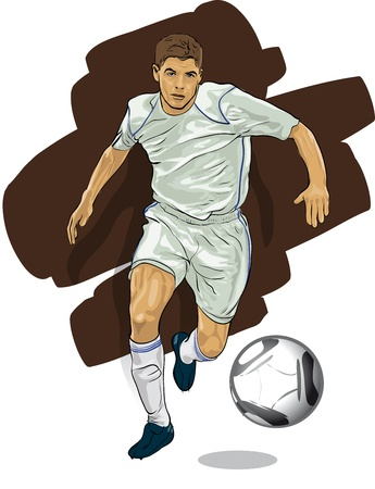 Leading player with the ball Vector