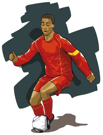 futbol: Professionale pallone viaggio di calcio durante una partita (Vector illustratio) Vettoriali