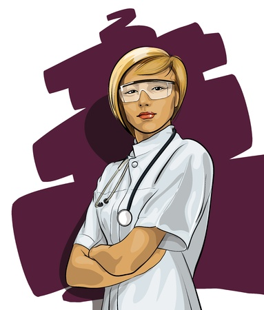doctor and nurse: Beautiful Woman Doctor (with phonendoscope)