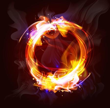 conflagration: fire frame background for design