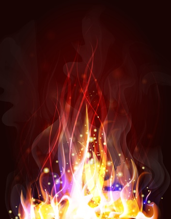 conflagration: fiery background for design   Illustration