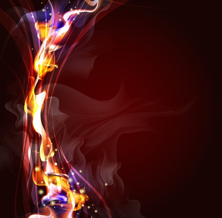 fiery: Abstract background for design  Illustration