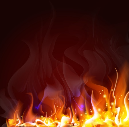 lángok: tüzes háttér kialakítása Illusztráció