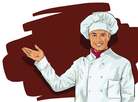 commercial kitchen: cook, a nice young man