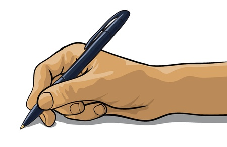 hand of a writing pen Stock Vector - 12821135