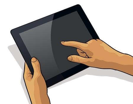 Tablet PC táctil de un dedo