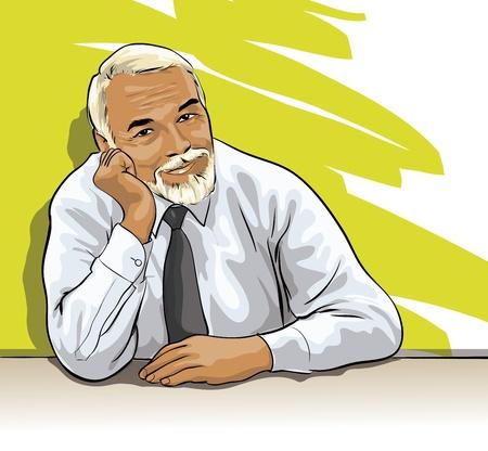 hombres maduros: un viejo sabio con ojos expresivos