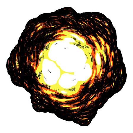 Heldere explosie op een witte achtergrond Stock Illustratie