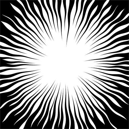 Radial golf lijnen Plein strijd stempel voor kaart stralen van de zon of ster barsten element Comic achtergrond Manga of anime speed grafische textuur held kader Explosion illustratie Stock Illustratie