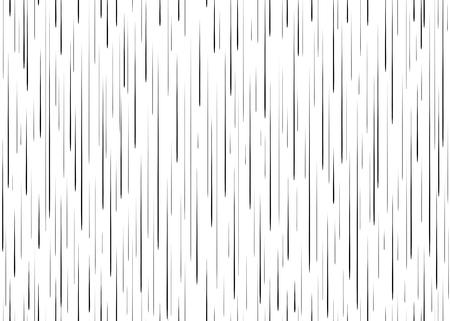 verticales: Rectángulo lluvia cae patrón transparente para la tarjeta de cómic en blanco y negro líneas verticales de fondo Manga o el sello de tinta gráfico animado textura monocromática sencilla elementos de la ilustración Vectores