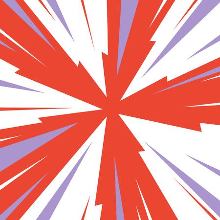 Vintage rode en blauwe radiale lijnen achtergrond Rectangle strijd stempel voor card Retro grafische circus textuur