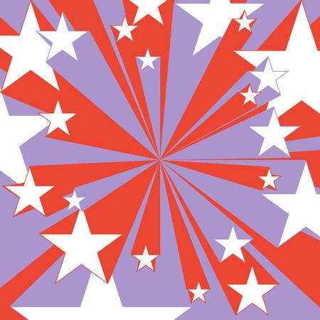 Vintage grafische rode en blauwe vliegende sterren Comic book kleur snelheid radiale lijnen achtergrond held actie textuur plein strijd stempel voor kaart