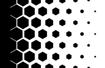 Gradient achtergrond met zeshoeken Halftone ontwerp Lichteffect Vector illustratie Stock Illustratie
