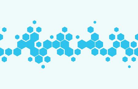 Naadloos patroon met zeshoeken Gradiëntontwerp Vectorillustratie Stock Illustratie