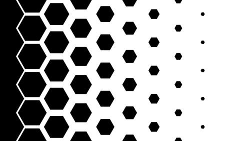 Gradient patroon met zeshoeken Halftone ontwerp Licht effect Vector illustratie Stock Illustratie