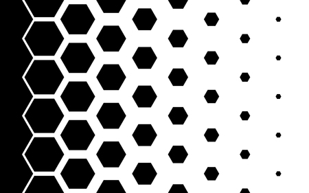 Gradient pattern with hexagons Halftone design Light effect Vector illustration