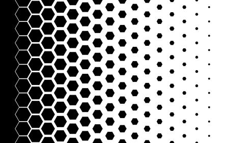 Gradient background with hexagons Halftone design Light effect Vector illustration