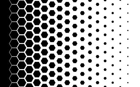 Gradient background with hexagons Halftone design Light effect Vector illustration