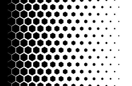 육각형 그라데이션 패턴 하프 톤 디자인 조명 효과 벡터 일러스트 레이 션 일러스트
