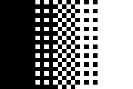 Pixel gradient pattern Classic dithering design Isolated black elements on white background Vector texture Reklamní fotografie - 109688007