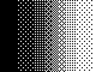Pixel gradient pattern Classic dithering design Isolated black elements on white background Vector texture Ilustracja