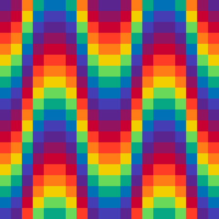 Pixel wave rainbow background Seamless pattern Vector illustration for website, card, poster Ilustracja