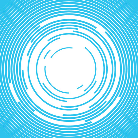 Concentric rings Sound wave background Vector illustration