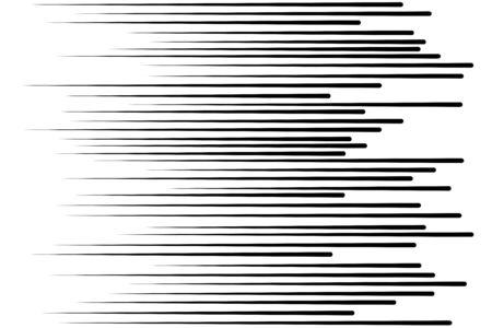 Líneas de velocidad Partículas voladoras Patrón sin fisuras Sello de lucha Textura gráfica Manga Rayos de sol o explosión de estrellas Elementos vectoriales negros sobre fondo blanco Ilustración de vector