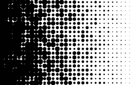 Halftone gradient with randomized dots Speed abstract pattern Isolated object on white background vector illustration