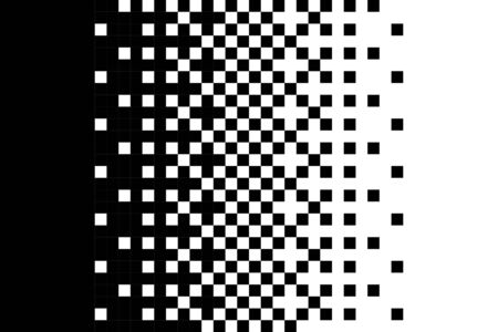 Pixel gradient pattern Classic dithering design Isolated black elements on white background Vector texture  イラスト・ベクター素材