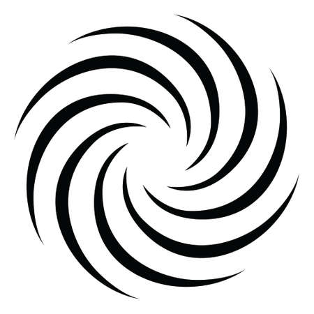 Spiral concentric rays Black and white background Sound wave texture Helix icon Pop art design Starburst vector illustration  イラスト・ベクター素材