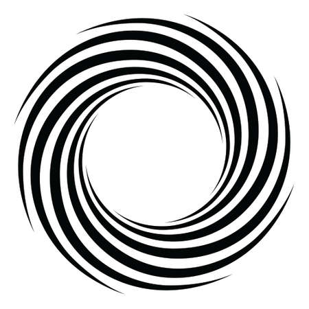 Spiral concentric rays Black and white background Sound wave texture Helix icon Pop art design Starburst vector illustration Stock Illustratie