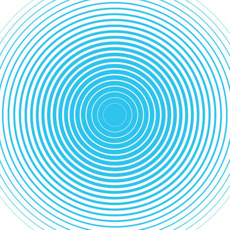 Blue concentric rings Sound wave wallpaper Radio station signal Circle spin vector background