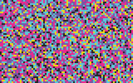 Pixels seamless pattern Color pixelated background 8 bit retro style Grainy noise effect Vector backdrop for game, web, fabric  イラスト・ベクター素材