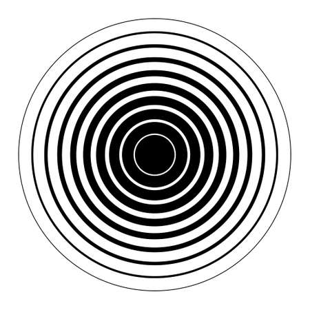 Black concentric rings Sound wave wallpaper Radio station signal Circle spin vector background