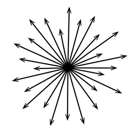 Black radial concentric arrows Sun ray or star burst elements Speed graphic texture Explosion vector illustration Illusztráció
