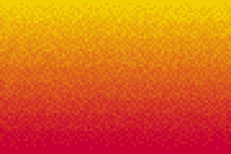 Pixel red gradient background Vector illustration for website, card, poster
