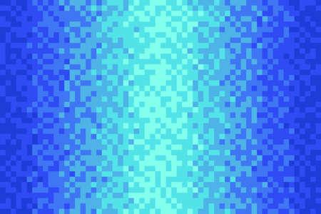 Pixel blue gradient background Vector illustration for website, card, poster