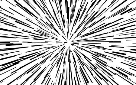 Rectangle fight stamp for card Comic radial lines background Zoom effect Sun rays or star burst elements Manga or anime speed graphic texture Superhero frame Explosion vector illustration 矢量图像