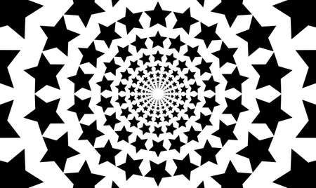 Radial black concentric stars on white background Sun ray or star burst elements Zoom effect Superhero frame Vector isolated object for website, card, poster 矢量图像