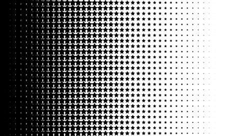 Gradient background with stars Halftone dots design Light effect Vector isolated object for website, card, poster