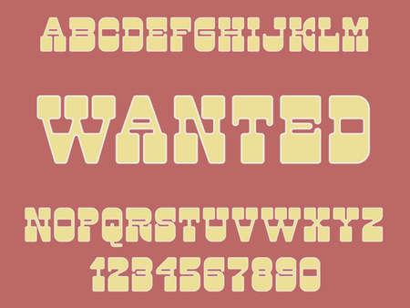 Vintage decorative font Western design