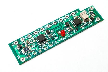electronic background: Electronic circuit board isolated on white background