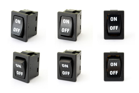 toggle switch: Toggle switch on the white background