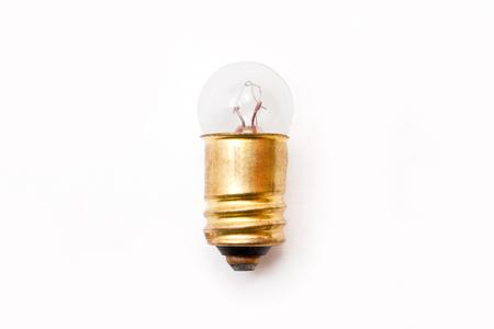 grecas: bombilla el�ctrica sobre el fondo blanco