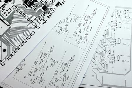 模式図。電子回路のプロジェクト