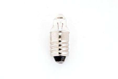 grecas: bombilla eléctrica sobre el fondo blanco