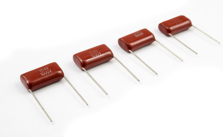 capacitor: Capacitor stripe on white background